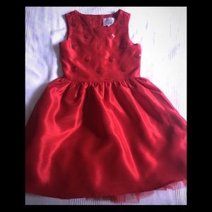 Girls red party/Christmas dress